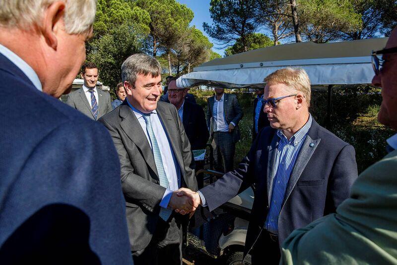Keith Pelley visita PGA Catalunya Resort, sede de la Candidatura española