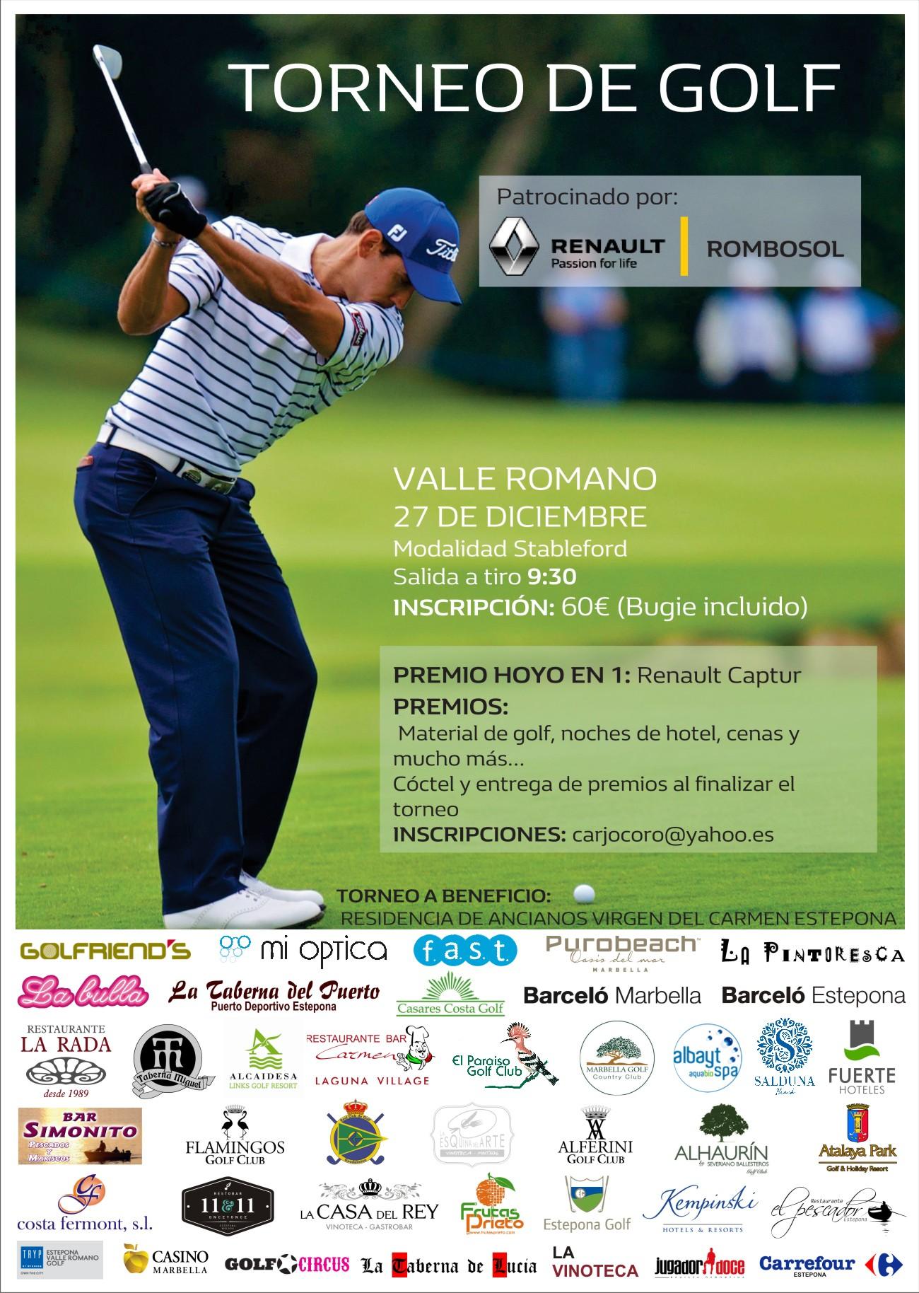 Torneo Solidario Golf Valle Romano.