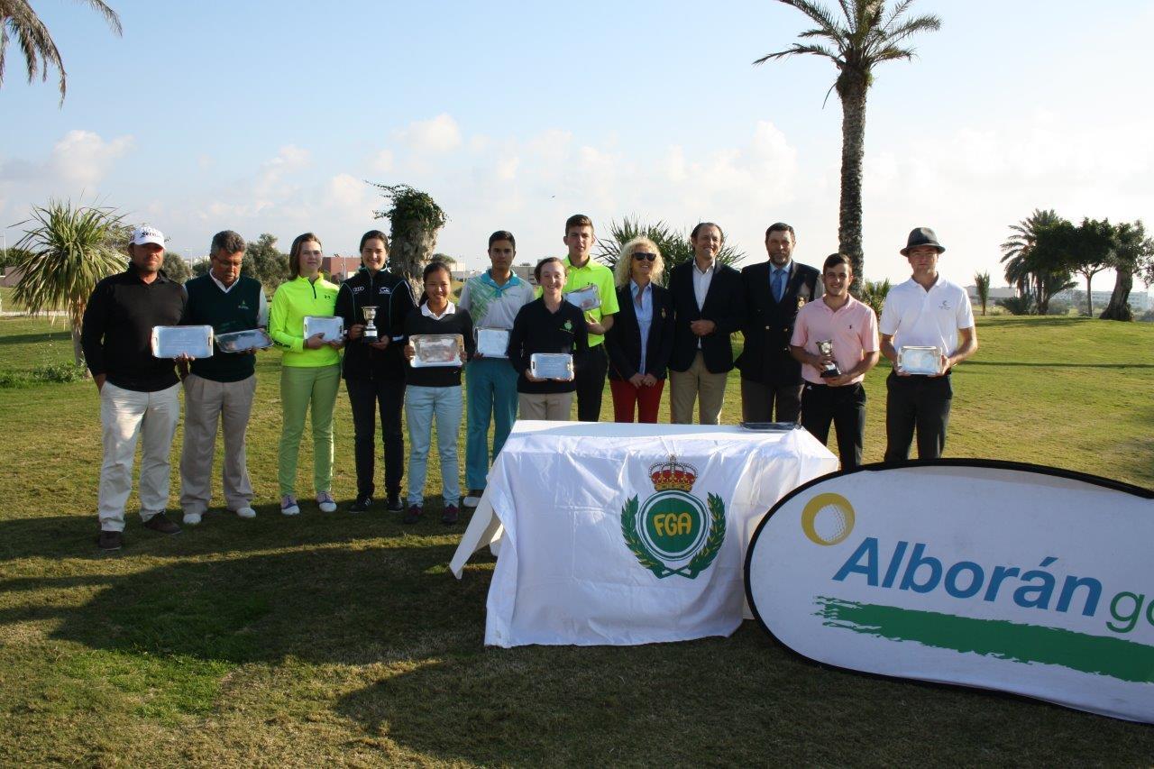 Emilio Hernández y Carmen Belmonte se hacen con la victoria en el Puntuable Andaluz de Almería en Alborán Golf
