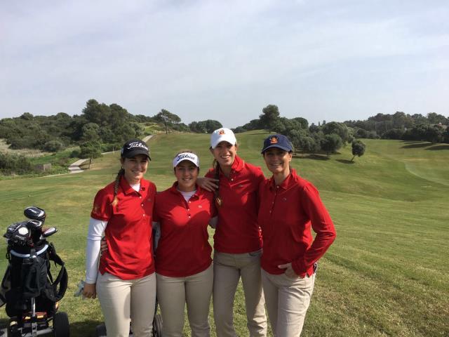 El equipo español femenino.