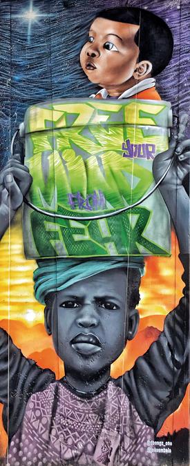 Grafiti en Ciudad del Cabo