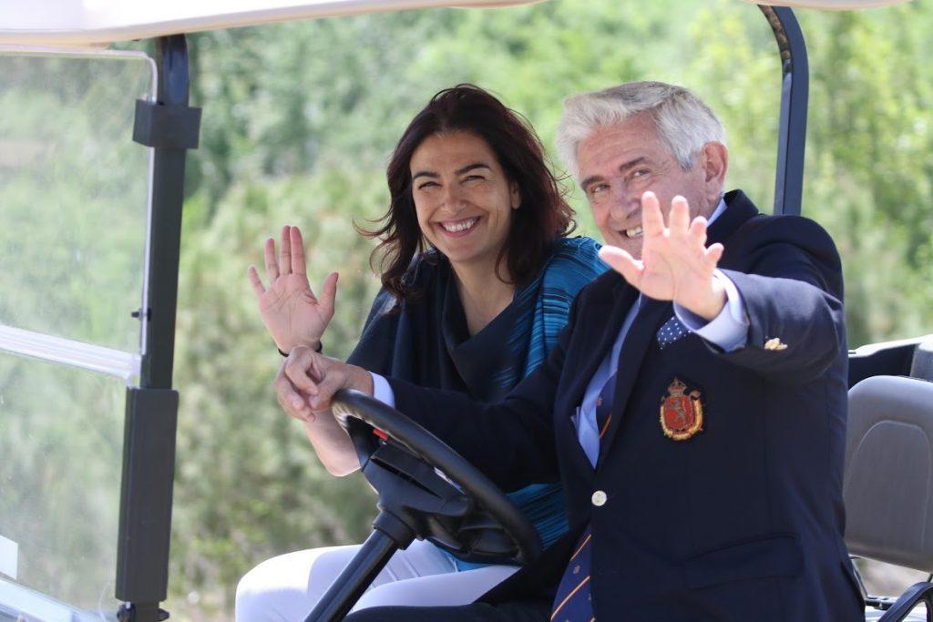 María José Rienda y Gonzaga Escuariaza en el Día Internacional de la Mujer Golfistas 2019