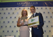 Marcelo Bottini y Linda Savage, ganadores del 19º Open de Golf de La Manga Club
